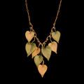 "Sweet Potato Vine 18"" Adjustable Statement Necklace | Michael Michaud | 9321BZ | Nature Jewelry"