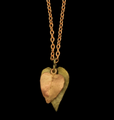 "Sweet Potato Vine 16"" Adjustable Dainty Pendant Necklace | Michael Michaud | 9322BZ | Nature Jewelry"