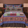 Bear and Basket 4-Piece Queen Quilt Bedding Set | Carstens | JQ341