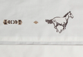Embroidered Horse Cotton King Sheet Set   Carstens   JS204-K