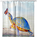 "Turtle Shower Curtain ""Communicating"" 