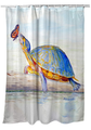 """Turtle Shower Curtain """"Communicating"""" 