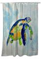 Blue Sea Turtle Shower Curtain | BDSH134