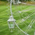"Iron Ferris Wheel ""Atlantic"" with Hanging Lanterns Garden Statue | Zaer International | ZR170810-WH"