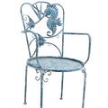 Seahorse and Fish Iron Garden Chair | Zaer International | ZR180494