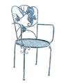 Seahorse and Fish Iron Garden Chair   Zaer International   ZR180494