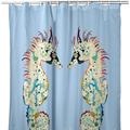 Betsy's Seahorses Light Blue Shower Curtain | BDSH388B