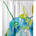 Blue Hibiscus Shower Curtain | BDSH1115