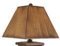 Canoe Scene Distressed Black Square Table Lamp | Coast Lamp | 12-R11C