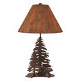 Bear and 2 Pine Burnt Sienna Iron Table Lamp | Coast Lamp | 12-R16B
