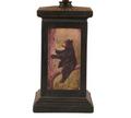 Bear in Tree Distressed Black Square Table Lamp | Coast Lamp | 12-R18C