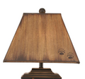 Bear Cubs in Canoe Distressed Black Table Lamp | Coast Lamp | 12-R18D
