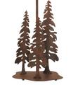 3 Pines Rust Iron Table Lamp with Burlap Shade   Coast Lamp   12-R27D