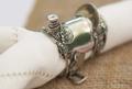 Pewter Cowboy Saddle Napkin Ring Set | Vagabond House