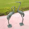 Long Necked Crane Garden Sculpture Pair | SPI Home