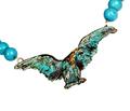 Eagle Verdigris Patina Solid Brass Turquoise Necklace | Elaine Coyne Jewelry | ECGEP2N
