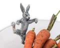 Climbing Bunny Rabbit Glass Salad Serving Bowl | Vagabond House | G413CB