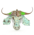 Cape Buffalo Animal Mask Recycled Metal Wall Art | Mbare | RCTM-B