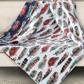 Feathers Quilted Throw Blanket | DQT903