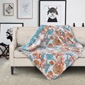 """Shells Coral """"Beach Comber"""" Quilted Throw Blanket 