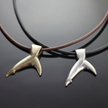 Black Tip Shark Tail Sterling Silver Pendant Necklace | Anisa Stewart | F1022