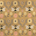 """Bees Mini Tapestry Throw Blanket """"Honey and Hive""""   Manual Woodworkers   ATHAH"""