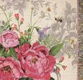 Flower Butterfly Tea Garden Tapestry Throw Blanket | Manual Woodworkers | ATTGD