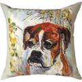 """Boxer """"Pet Love"""" Indoor/Outdoor Throw Pillow   SLPLBO"""