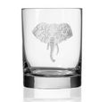 Elephant Double Old Fashioned Glass Set of 4 | Rolf Glass | 236001