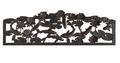 Koi Cast Iron Garden Bench | Painted Sky | PSPB-KOI-100BR