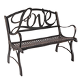 Love Cast Iron Loveseat Garden Bench | Painted Sky | PBLS-LUV