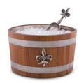 Fleur de Lis Teak Wood Beer Cooler Ice Tub   Vagabond House   E239FL
