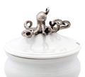 Octopus Stoneware Covered Bowl | Vagabond House | O326KP
