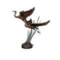 Two Flying Herons Bronze Fountain Statue | Metropolitan Galleries | SRB022005