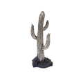 Saguaro Cactus Small Silver Plated Cactus Sculpture | C-4 | D'Argenta