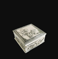 Floral Sterling Silver Plated Jewelry Box | D'Argenta | U-310
