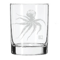 Etched Octopus Double Old Fashioned Set of 4