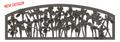 Iris Cast Iron Garden Bench | Painted Sky | PSPB-IRS-100BR