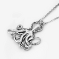 Ornate Octopus Pendant Sterling Silver Necklace | Silver Spoon Jewelry| SSJ-ND-OCTO