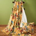 Song Birds and Fruit Poly Throw Blanket | WW4549714901