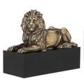 Lion Laying on Plinth Sculpture | Unicorn Studios |  WUWU76538B4
