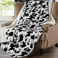 Cow Skin Sherpa Mink Throw |  DTR1017