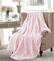 Pink Rose Sherpa Throw | DTR1020