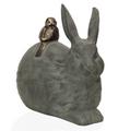 Rabbit and Little Friend Garden Sculpture | SPI Home | 33788