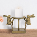 Dancing Rabbits Pillar Candleholder | 41002 | SPI Home