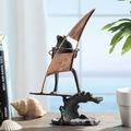Wave Catching Surfer Frog Sculpture | 51124 | SPI Home
