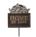 Cat and Kitten Home At Last Garden Sign   34953   SPI HOME