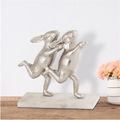 Dancing Bunny Couple Desktop Decor   53006   SPI Home