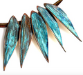 Verdigris Patina Leaves Solid Brass Necklace  | Elaine Coyne Jewelry | ECLP877n