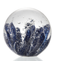 Blue Coral Art Glass Sphere Paperweight   83063